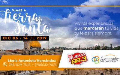 Community Networker les invita a unirse en el Viaje a Tierra Santa 2019